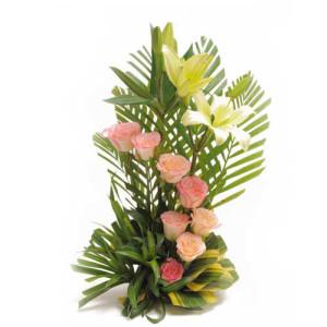 Spring Garden 10 Lilies - Send Lilies Online India