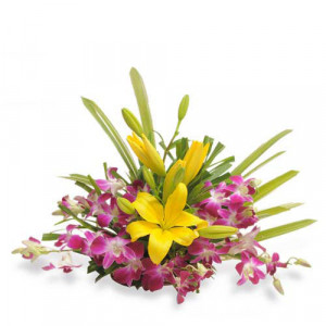 Timeless Elegance - Flower Basket Arrangements Online