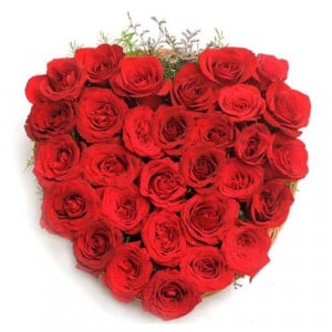 Blooming Love - Send Heart Shape Flower Arrangement Online