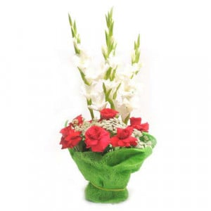 Signature Red - Flower Basket Arrangements Online