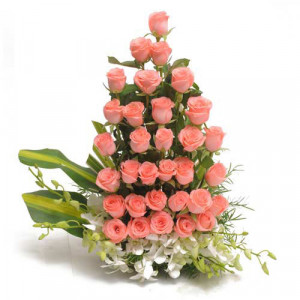 Modern Enchantment - Flower Basket Arrangements Online