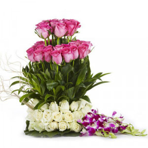 The Sweet Surprise - Flower Basket Arrangements Online