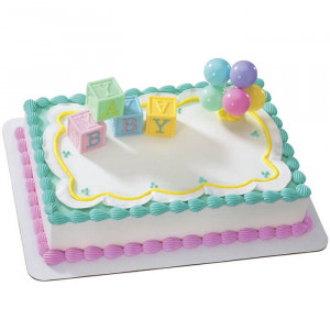 Alpha Num Baby Shower Cake - Send Baby Shower Cakes Online