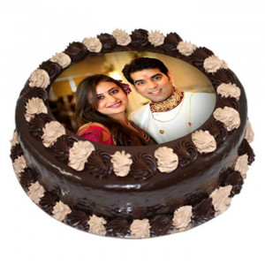 Choco Photo Cake 1 Kg - Send Personalised Photo Cakes Online