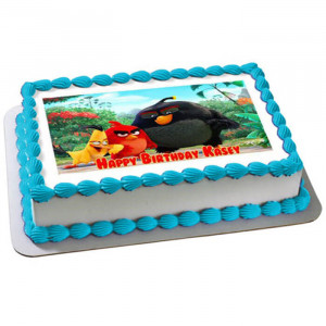 Angry Birds Photo Cake - Send Baby Shower Cakes Online