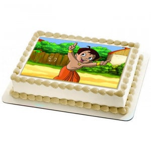 Chhota Bheem Photo Cake - Send Baby Shower Cakes Online