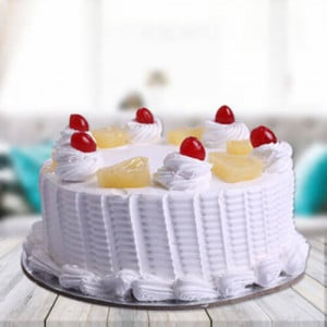 Pineapple Cake - Send Eggless Cakes Online