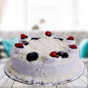 White Forest Cake - Send Eggless Cakes Online