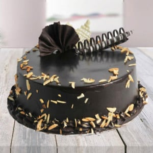 Choco Almond Cake - Send Eggless Cakes Online