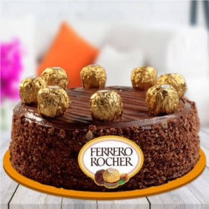 Ferrero Rocher Chocolate Cake - Online Cake Delivery in Karnal
