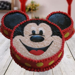 Mickey Mouse Shape Cake - Send Black Forest Cakes Online