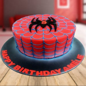 Spider Love Cake - Send Eggless Cakes Online