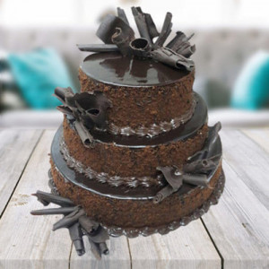 3 Tier cake - Send Chocolate Cakes Online