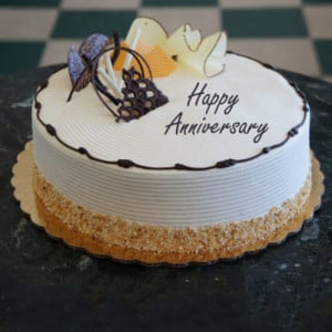 Heartfelt Anniversary Cream Cake - Birthday Cakes for Her