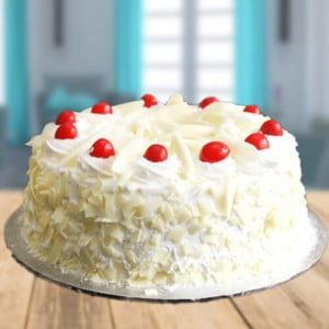 Tempting White Forest Cake - Birthday Gifts for Her