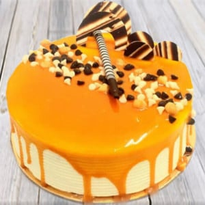 Appetizing Butterscotch Cake - 1st Birthday Cakes