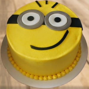 Hello Minion Cake - Send Eggless Cakes Online