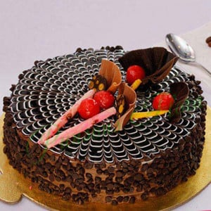 Classic Choco Chip Cake Eggless - Send Chocolate Truffle Cakes Online