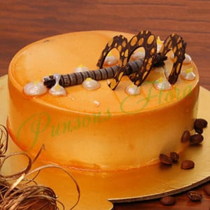 Coffee Addiction Cake - Send Eggless Cakes Online