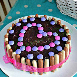 Heartful Delight Cake - Send Party Cakes Online