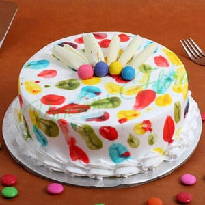 Holi Special Pineapple Cake - Send Party Cakes Online