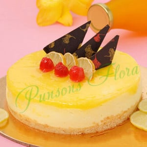 Zesty Lemon Cheesecake - Online Cake Delivery in India