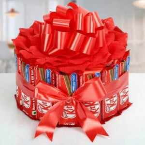 KitKat Bouquet - Online Christmas Gifts Flowers Cakes