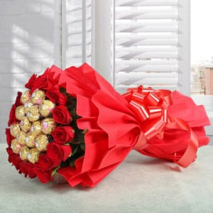 Rocher Bouquet - Online Flowers Delivery In Kalka