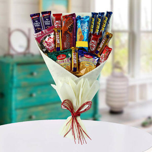 Mix Snacks Bouquet - Anniversary Chocolates