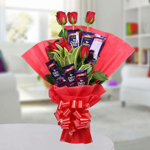 Chocolate Rose Bouquet - Send Flowers to Jalandhar