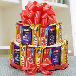 Two Story Chocolate Treat - Kiss Day Gifts Online