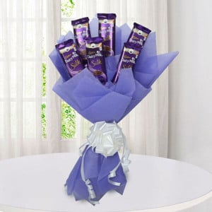 Silk Chocolate Bouquet - Kiss Day Gifts Online