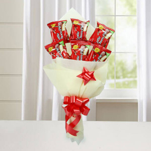 Cute Choco Pie Bouquet - Anniversary Chocolates