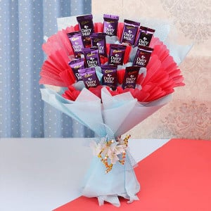 Dairy Milk Bouquet - Online Flowers Delivery In Pinjore