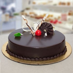 Chocolate Truffle Round Cake - Kiss Day Gifts Online