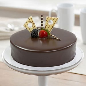 Chocolate Truffle Yellow Leaves Cake - Online Cake Delivery In Jalandhar