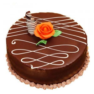 Round Chocolate Truffle Cake - Send Chocolate Truffle Cakes Online
