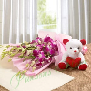 Bounty of Love - Flowers with Soft Toys online