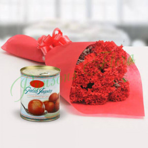 Appealing Combo - Flowers with Sweets Online