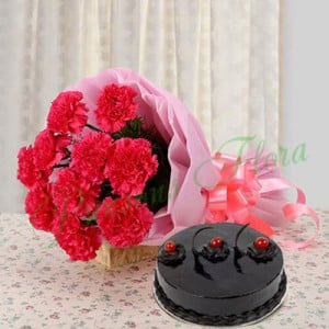 Blesses and Wishes - Flowers and Cake Online