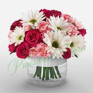 Bliss - Glass Vase Arrangements
