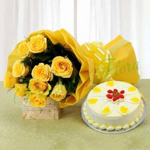 Boundless Love - Birthday Cake and Flowers Delivery