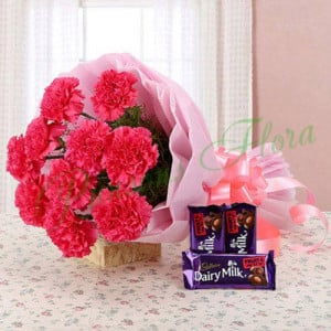 Carnation Temptation - Online Flowers Delivery in Zirakpur