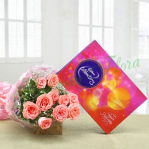 Celebration Combo - Send Flowers and Chocolates Online