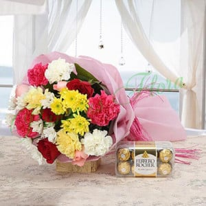 Colourful Explosions - Anniversary Flowers Online