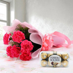 Cute Hamper - Valentine's Day Flowers and Chocolates