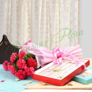 Fathers Day Spl Carnation Beauty - Mothers Day Gifts Online
