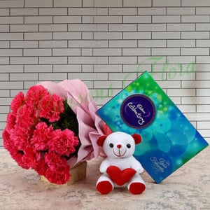 Heartfelt Best Wishes - Flowers with Soft Toys online