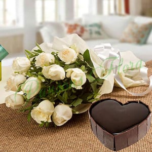 Heavenly Love - Valentine Flowers and Cakes Online