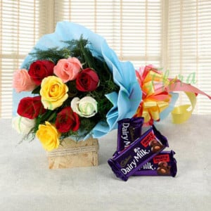 Love Gets Chocolaty - Birthday Cake and Flowers Delivery